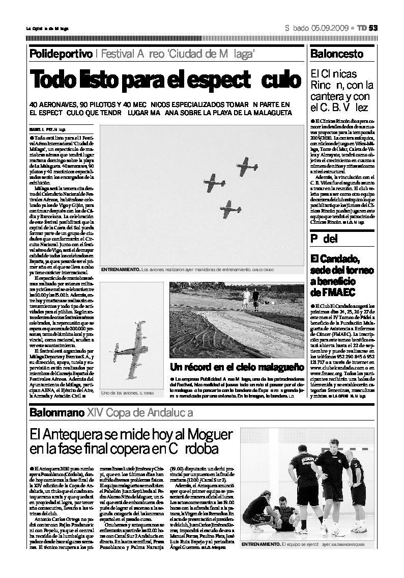 Aeropublicidad en la Opinión de Málaga