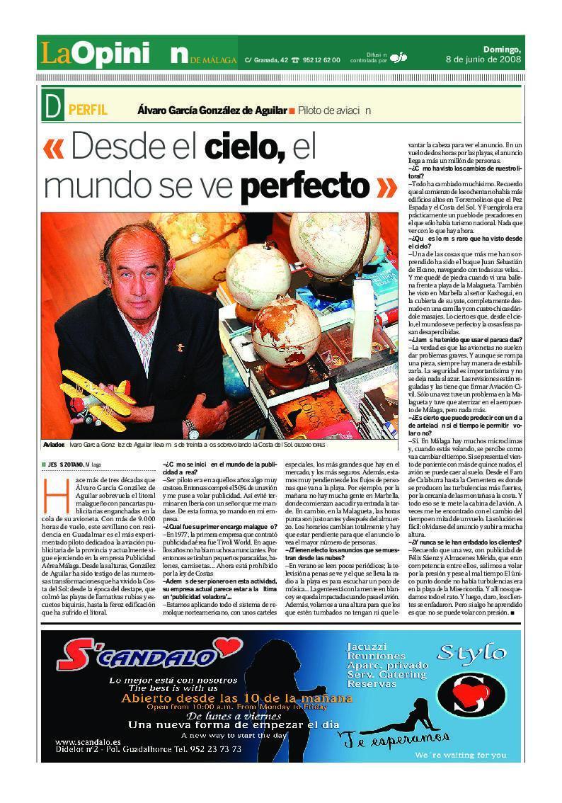Entrevista en la Opinión de Málaga